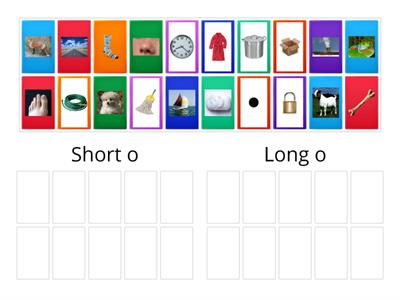 Picture Sort for Short and Long o