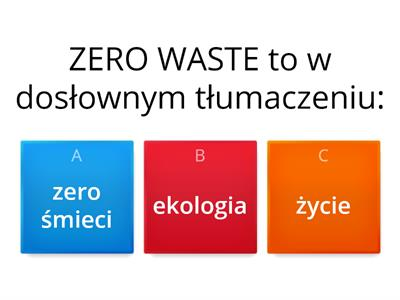 Co wiem o ZERO WASTE