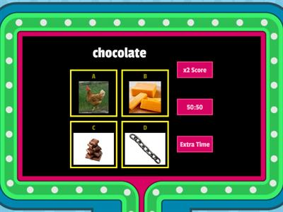 Gameshow quiz ch picture and word - non decodable