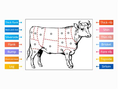UK Beef cuts pinboard