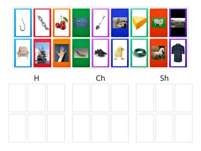 Picture Sort for H, Sh, Ch