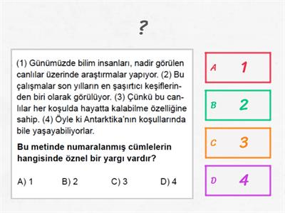 Copy of 5/A CÜMLEDE ANLAM TESTİ
