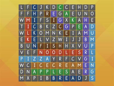 Word Search _ Foods