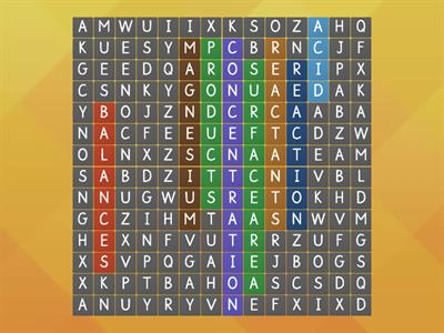 Wordsearch Chemistry BTEC