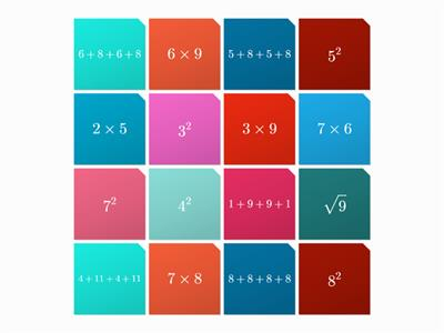 multiplication, addition and squares