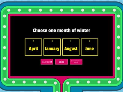 Months of the Year / seasons
