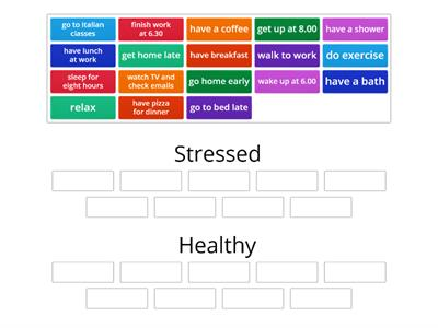 Stressed? Healthy?