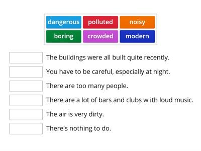 5B City adjectives EnglishFile Pre-Int
