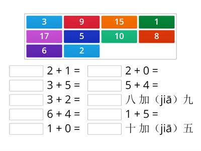 Addition and subtraction in Chinese