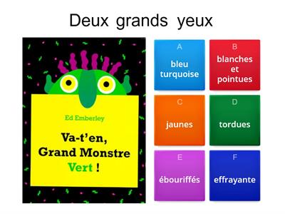 Adjectival agreement for ¨Va-t´en Grand Monstre Vert !¨