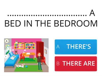 Bedroom: THERE'S or THERE ARE