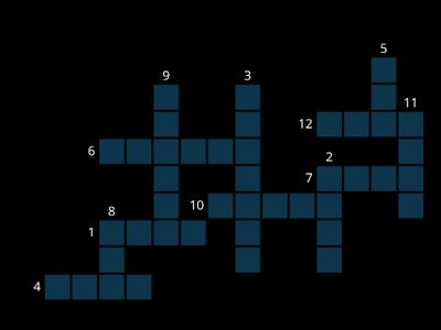 R-controlled vowels review crossword