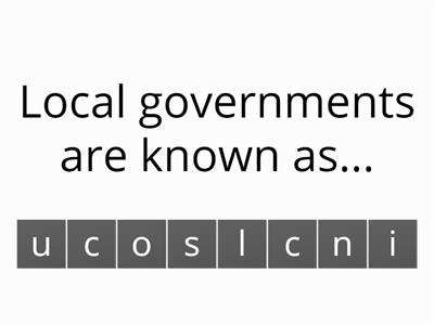 Local and National Government