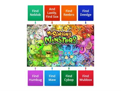 Find My Singing Monsters