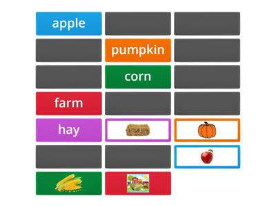 Harvest time! - Memory game