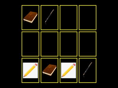 Memory game (school objects)