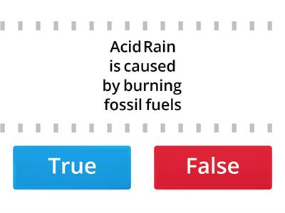 True or false acid rain