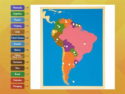 South America map puzzle (Montessori)