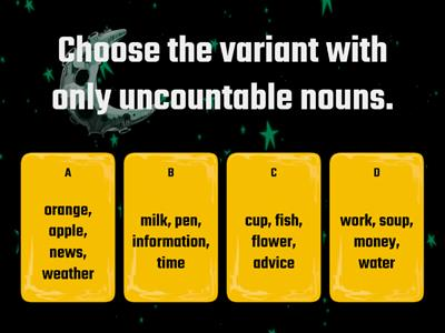 Revision. Countable and uncountable nouns