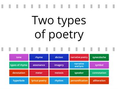 Poetry Terms,  TSS8