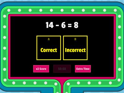 Using 10 Subtraction Gameshow