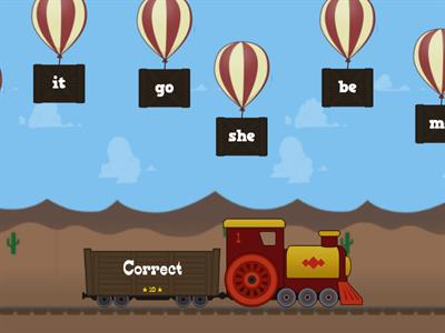 Balloon Pop Sight word practice Starfall week 8