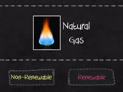 Energy Sources renewable/non renewable