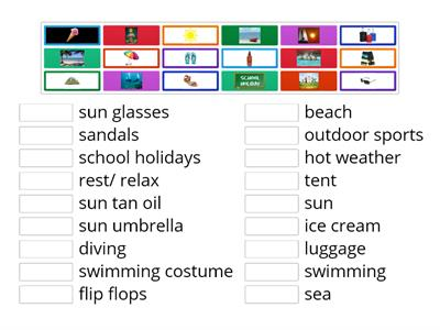 Summer holidays vocabulary