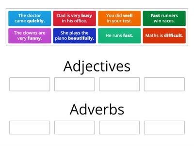Adjective or Adverb? Sentences