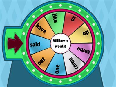 William's high frequency words 2
