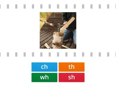 Copy of match the digraph wh, th, sh, ch