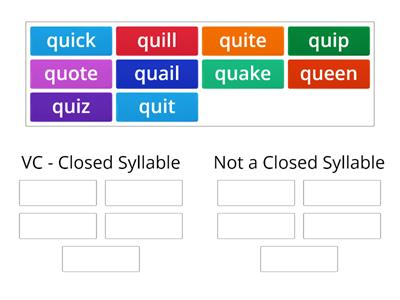 QU words: Closed Syllable or Not?