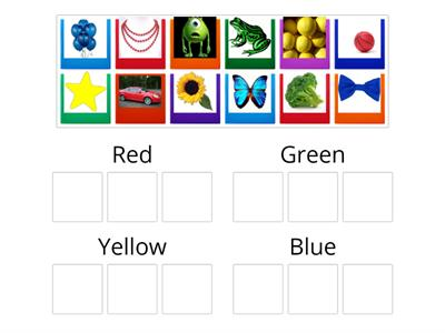 Sorting colors properties of objects
