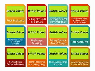 British Values Flip Tiles