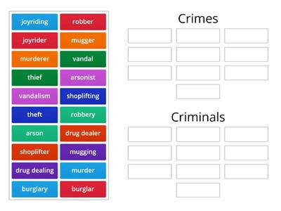 Crimes and Criminals Pre-Intermediate