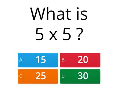 KS1 -  Mental Maths 3