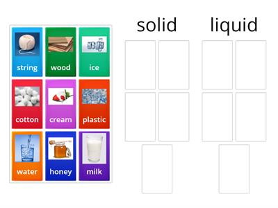 Group sort solid liquid