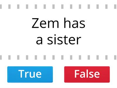 True or false? 3. class. From Zoom book