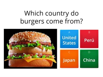 Food and countries