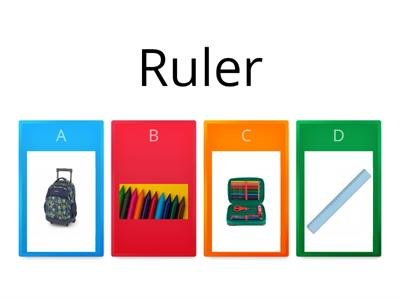 School supplies (Pop 1 - unit 2)