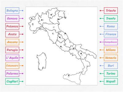 Cartina D Italia Con Capoluoghi Di Regione.Italia Capoluoghi Risorse Per L Insegnamento