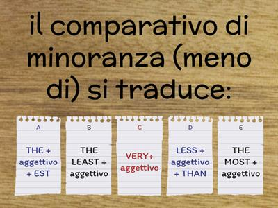 COMPARATIVI E SUPERLATIVI (inglese)