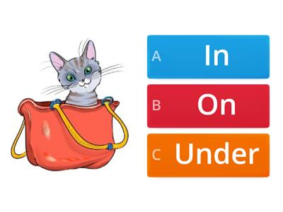 Prepositions: In, on and under