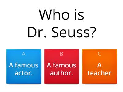 Dr. Seuss Assessment