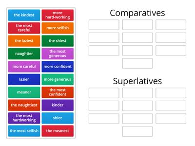 Comparatives vs. superlatives