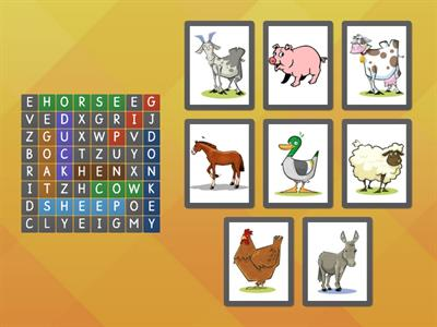 Copy of FARM ANIMALS ANAGRAM