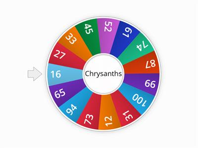 Number names spin wheel