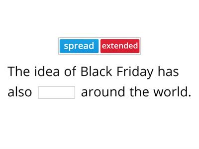 Black Friday collocations and vocabulary