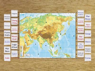 Cartina Asia Fisica.Geografia Fisica Cartina Risorse Per L Insegnamento