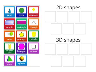 Gsorting 2D and 3D shapes